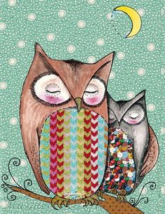 two owls by Marmee Craft