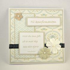 Kort til konfirmant nr 02 Håndlaget kort. Handmade card.