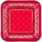 Red Bandana Lunch Plates (8)