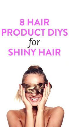 8 hair product DIYs for shiny hair