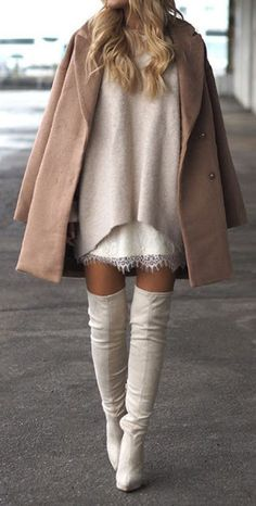 STREET STYLE: Thigh High Boots! 50 Best Outfits