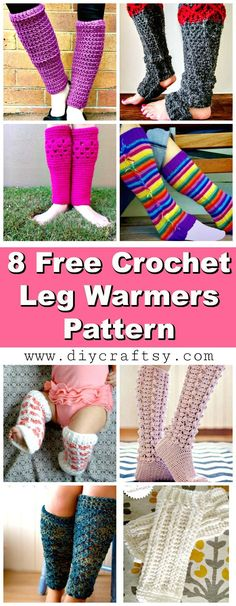 Crochet Leg Warmers - 8 Free Crochet Leg Warmer Patterns - DIY & Crafts