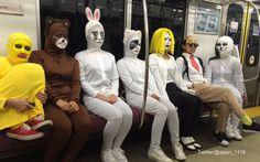 電車の中にLINEがいる…たのしすぎなハロウィン仮装【10選】 – grape [グレープ] – 心に響く動画メディア