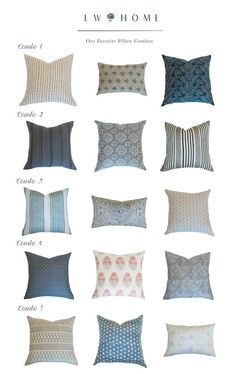 LW Home Favorite Pillow Combos Blog Post Perry Homes, Console Styling, Better Together, Designer Pillow, Custom Pillows, Style Guides, Make It Simple, Pillow Covers, Throw Pillows