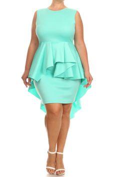 Plus Size For Love Layered Peplum Dress – PLUSSIZEFIX