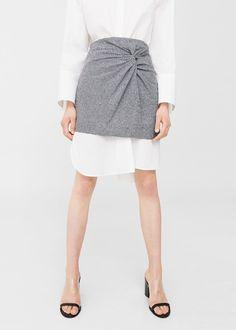 Draped printed skirt -  Woman | MANGO United Kingdom