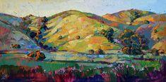 California Impressionism Painting - California Greens by Erin Hanson