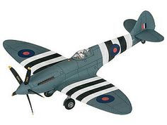 Corgi 1:72 Supermarine Spitfire Diecast Model Airplane - AA38702 This Supermarine Spitfire PR XIX-PM631 Diecast Model Airplane features working propeller. It is made by Corgi and is 1:72 scale (approx. 16cm / 6.3in wingspan).  Built in November 1945 as a high altitude photo reconnaissance aircraft with a Griffon 66 engine and pressurised cockpit, PM631 was too late to see operational service in WWII. She was delivered to the RAF in 1946 and issued to 203 Advanced Flying School in May 1949…