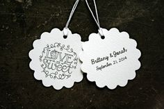 Personalized wedding favor tags gift tags by ClementineWeddings, $27.50