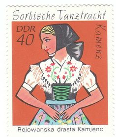 1971 Sorbische Tanztracht 40ddr: Tanztracht aus Kamenz #katholisch Stamp World, Going Postal, East Germany, Love Stamps, Stamp Collecting, Dance Costumes, Postage Stamps, Disney Characters, Fictional Characters