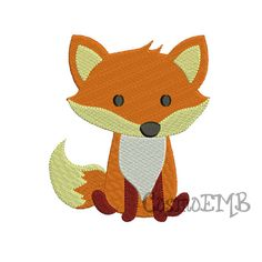 6 Size Fox Embroidery design Machine Embroidery  Digital