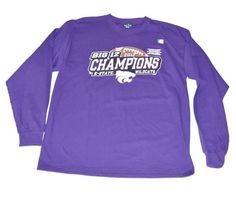 Kansas State Blue 84 Big 12 2012 Football Champions Long Sleeve Purple T-Shirt