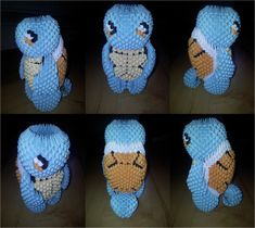 3D Origami Squirtle (Pokemon) by UNSJN.deviantart.com