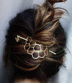 honeycomb bun pin