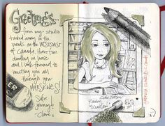 Claire Watson Sketchbook #art #drawing #sketch #journal
