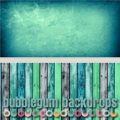 www.bubblegumbackdrops.com  Teal Grunge - Colored Wood