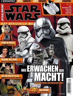 The German Star Wars magazine has a cool new cover with Captain Phasma on it. Of course I don't speak German or read German publications for fun but my homies at Jedi Bibliothek do and they gave me...