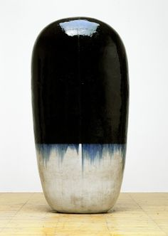 Black blue and white ceramic sculpture pottery art Untitled Dango, 2001 ceramic, by Jun KANEKO, Japan 金子潤 Glass Ceramic, Ceramic Clay, Ceramic Pottery, Pottery Art, Japanese Ceramics, Japanese Pottery, Abstract Sculpture, Sculpture Art, Ceramic Sculptures