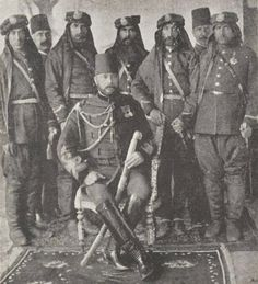 Ottoman garrison in Baghdad (Iraq): officers of the 4th Army, ca. 1915.