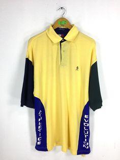 cb1d9b39 TOMMY HILFIGER Shirt Large Vintage Tommy Hilfiger Athletics Evolution Hip  Hop Tommy Hilfiger Sailing Gear Tommy Yellow Polo Shirt Size L