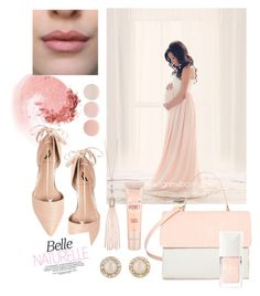 """""""Blushing Bump Ombré Maternity Gown"""" by sewtrendy on Polyvore featuring NARS Cosmetics, Ava & Aiden, Eddie, Kate Spade, Oasis, Deborah Lippmann, Christian Dior and Maybelline"""
