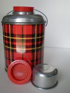 Plaid Picnic Thermal Jug by Faris by SimplyLoveVintage on Etsy