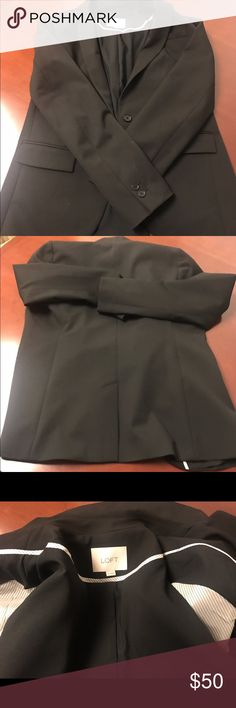 Loft black blazer ! Perfect blazer for office , just worn twice LOFT Jackets & Coats Blazers