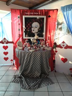 Queenhearth alice in wonderland candy table