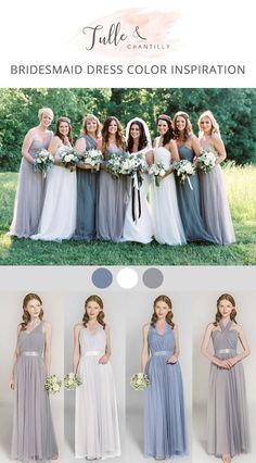 Blue Wedding Flowers grey and dusty blue wedding colors inspired bridesmaid dresses - Shop for latest affordable bridesmaid dresses include all styles Grey Blue Bridesmaid Dresses, Affordable Bridesmaid Dresses, Wedding Bridesmaid Dresses, Blue Bridesmaids, Wedding Gowns, Mauve Wedding, Blue Wedding Flowers, Wedding Colors, Green Wedding