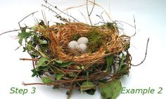 Hand made decorative nest - will have to try, it looks fairly simple for older children and adults. Nice Springtime centerpiece.