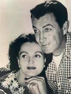 Ursula Thiess with husband Robert Taylor.  After a bitter divorce with Barbara Stanwick, he finally found happiness with the beautiful Ursula Thiess.