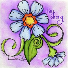 Periwinkle Flower is a charming watercolor painting of a periwinkle doodle flower with an offshoot open bud with a green leaf and swirls over a rich purple watercolor wash background. Periwinkle Flowers, Flower Doodles, Doodle Flowers, Bible Art, Copics, Whimsical Art, Rock Art, Doodle Art, Painted Rocks