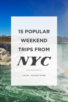 Need a break from the city? Check out this article to see the 15 best weekend trips from NYC. It includes family + romantic weekend getaways near nyc. Weekend Getaways From Nyc, Day Trip To Nyc, Last Minute Getaways, Weekend In Nyc, Romantic Weekend Getaways, Weekend Vacations, Vacation Spots, Romantic Weekend Breaks, California Travel Guide