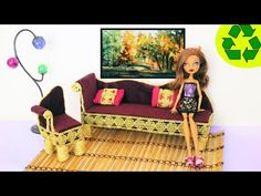 Make an Armchair for Monster High's Clawdeen Wolf - Recycling - Doll Crafts - YouTube