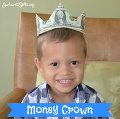 How to Make a Money Crown   One of the most unique ways to give money!