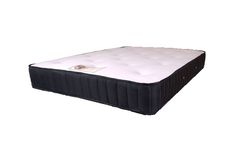 """6ft Memory Royal Mattress - £549.95 - This lovely mattress features a medium tension """"no turn"""" spring system with a deep layer of visco elastic memory foam on the sleeping surface and then covered in a super soft deluxe knitted fabric. Hand tufted with soft felt tufts for comfort.  The mattress is vented for superior air circulation and cooling properties."""