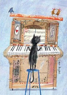 The Piano Cat - by Laura Hughes