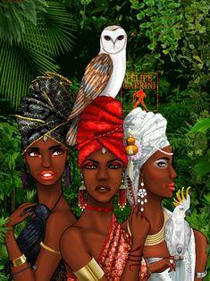 Iyami Osoronga by Felipe Caprini Black Figurines, Yoruba Religion, Character Portraits, Divine Feminine, Black Power, Archetypes, Fantastic Beasts, Spirit Animal, Black Art