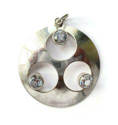 Vintage Finnish style modernist rock crystal pendant, Scandinavian silver, 1970s sterling jewelry Finland, Kultaseppa Salovaara style. https://www.etsy.com/listing/285895253/vintage-finnish-style-modernist-rock