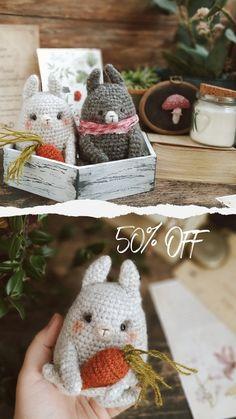 Crochet Toys Patterns, Amigurumi Patterns, Stuffed Toys Patterns, Crochet Bunny, Cute Crochet, Amigurumi Toys, Bunnies, Free Pattern, Etsy Seller