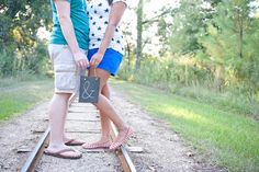 One Year Anniversary.  Ampersand & Train Tracks.  Herman Park. Houston, TX  Photos By: Fleurish Imagery