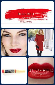 The ultimate blue red lipstick. Blue Red Lipstick, Red Lipsticks, Long Lasting Lip Color, Long Lasting Lipstick, Colored Mascara, Loose Powder, Tinted Moisturizer, Everyday Makeup, Color Correction