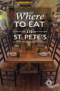 If you are looking for great places to eat in St. Pete, here are 9 recommendations, from casual breakfast spots on the beach to refined downtown restaurants. St Petersburg Florida, Downtown St Petersburg, Saint Petersburg, Florida Food, Tampa Florida, Florida Beaches, Naples Florida, Kissimmee Florida, Tampa Bay