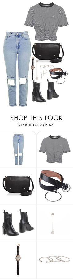 """Love me forever or never"" by elo379 ❤ liked on Polyvore featuring Topshop, T By Alexander Wang, Longchamp, Eqüitare, Shinola, Gorjana and Eddie Borgo"
