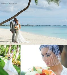 Wedding couple on Seven Mile Beach, Grand Cayman by Rebecca Davidson » Caribbean Wedding Photographer in the Cayman Islands