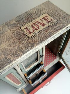 LOVE Shabby Chic Jewelry Box