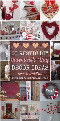 Add a touch of rustic charm to your home with these rustic valentine's day decorations. From wood art to burlap wreaths, there are plenty of DIY farmhouse valentines day decor ideas to choose from. valentines day 50 Best Rustic Valentine's Day Decorations Valentine Day Wreaths, Valentines Day Party, Valentines Day Decorations, Valentine Day Crafts, Holiday Crafts, Holiday Fun, Valentine Ideas, Printable Valentine, Homemade Valentines