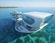 Non Residential : Marine Research Centre BALI. Concept Architecture: Marine Research Center in Bali Floating Architecture, Futuristic Architecture, Amazing Architecture, Architecture Design, Concept Architecture, Architecture Facts, Chinese Architecture, Futuristic Design, Architecture Office