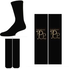 #PPP LOGO BLACK CREW SOCKS