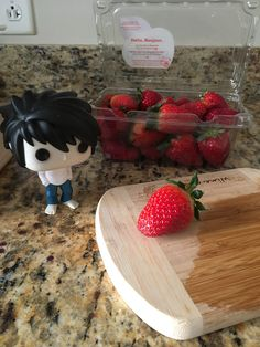 I'll give you this strawberry if you keep it a secret, okay?
